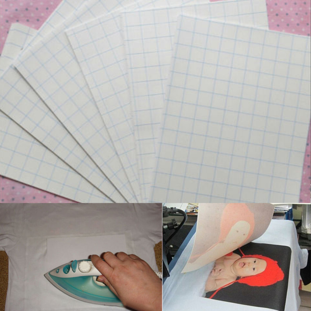 5 Sheets A4 Size Iron On Transfer Paper Inkjet Heat Transfer Printing Paper For Light Color Fabrics(China (Mainland))
