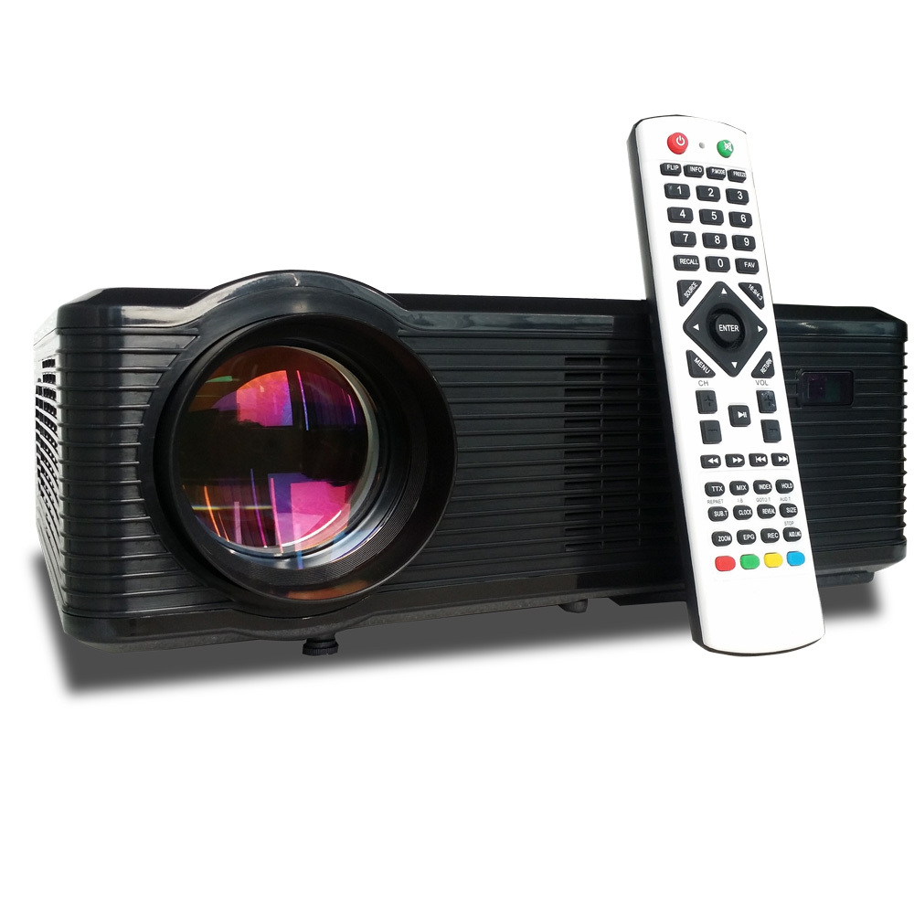 !!2015 brand new brightness 3000 lumens Cinema Led TV 3D HD GAMES Multimedia Player LED Projector with HDMI /AV/VGA/SD/USB(China (Mainland))
