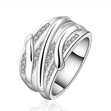 Hot Sale!!Free Shipping 925 Silver Ring Fashion Sterling Silver Jewelry,crystal line Ring SMTR572(China (Mainland))