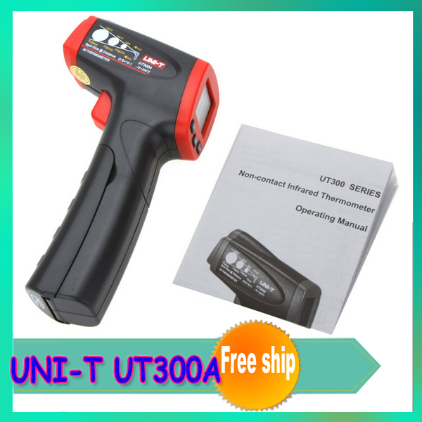 1pcs UNI-T UT300A Non-Contact LCD display IR Infrared Thermometer Temperature Gun with Laser Switch <br><br>Aliexpress
