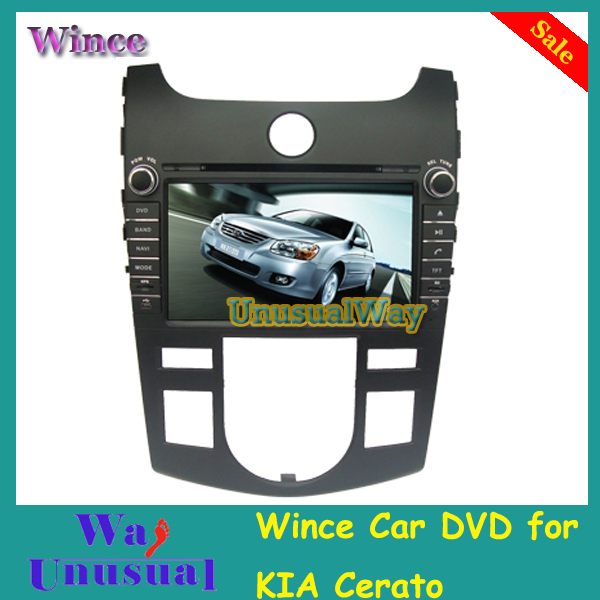 Free Shipping Wince Car DVD Auto Player For KIA Cerato / Forte Auto Air-Conditioner Version 2008-2012 With GPS Navi Free Map(China (Mainland))