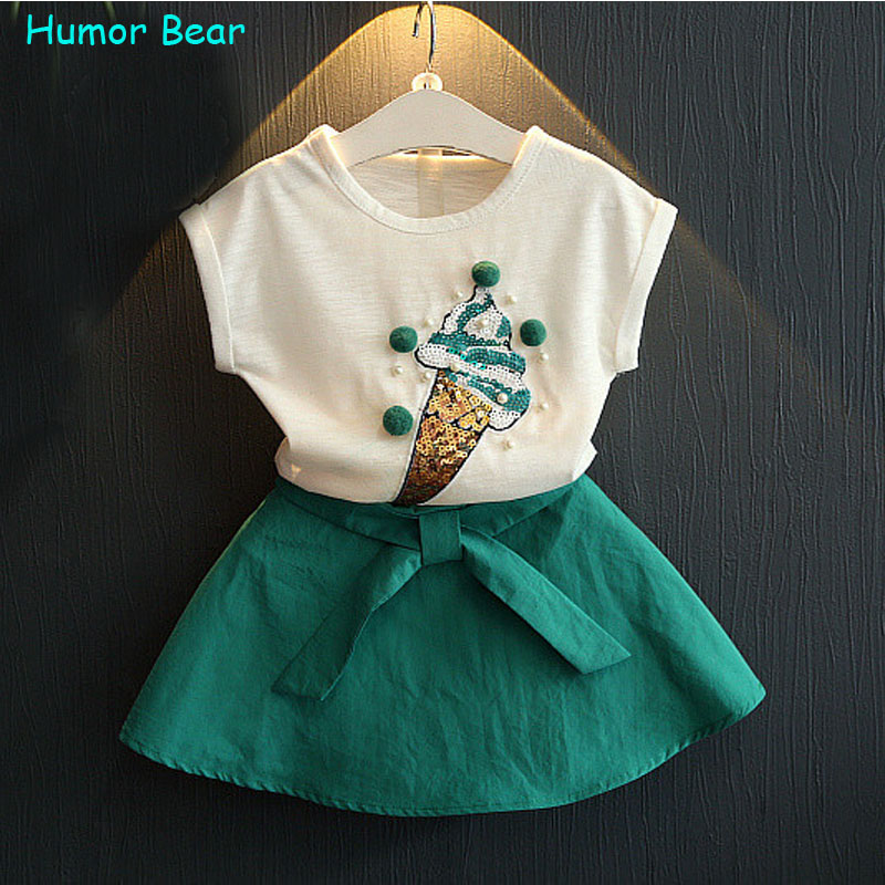 Humor Bear summer fashion 2016 Lovely ice cream girls clothes Kids Clothes Party Dresses Brand Girl Dress(China (Mainland))