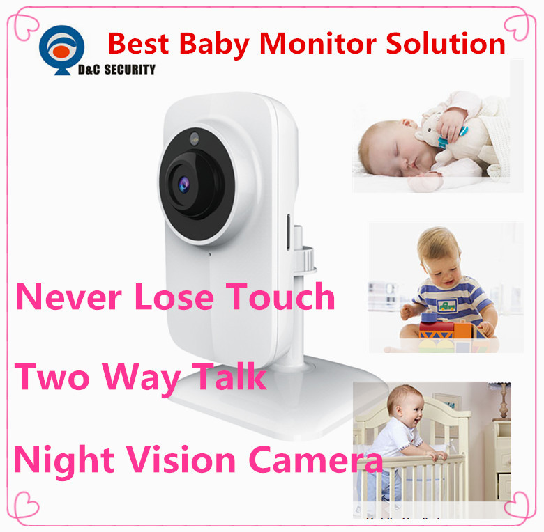 Hot sell! mini baby Monitor HD video Talk 720p WIFI video Camera Support Night Vision and TF Card for Apple Android IOS phone(China (Mainland))