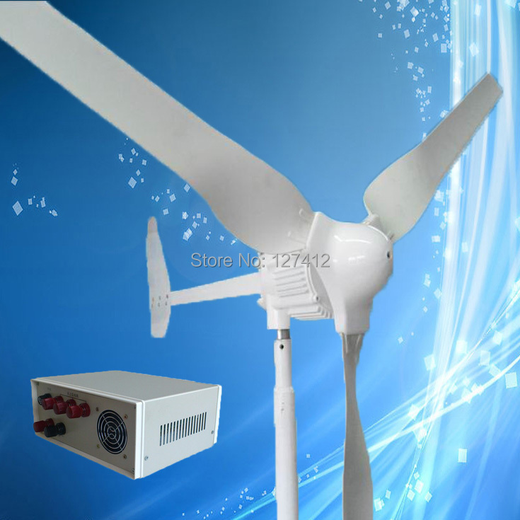 1KW Wind Turbine with Tail Turned Brake Protection, 24VAC Output, Combine with 1KW/24V Wind Controller, 3 Years Warranty(China (Mainland))