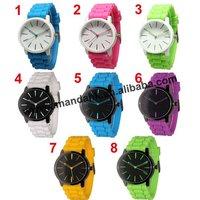 woman man sport silicone quartz wristwatch fashion geneva style no logo woman dress watch students dress jelly watches