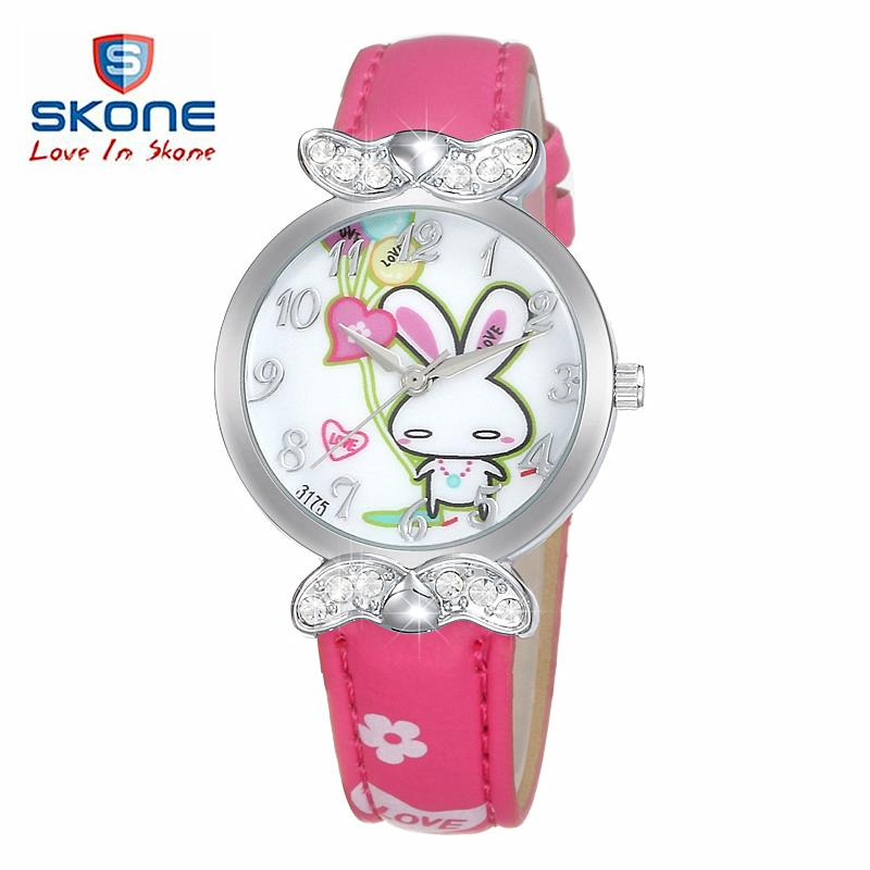 Гаджет  Watch Children fashion Casual girls watches Lovely Cartoon Students Quartz Wristwatches brand SKONE waterproof relojes gift kids None Часы