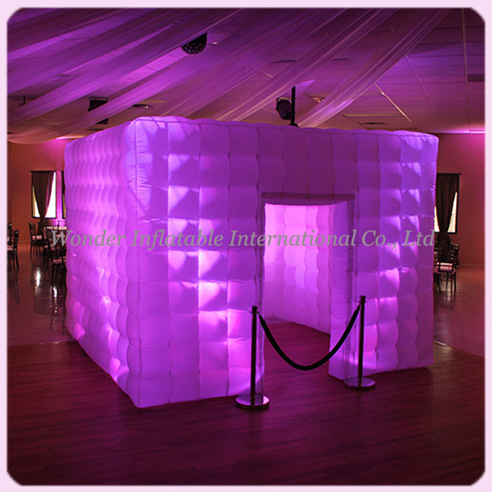 Giant colorful portable spray booth enclosure wedding party inflatable photo booth(China (Mainland))