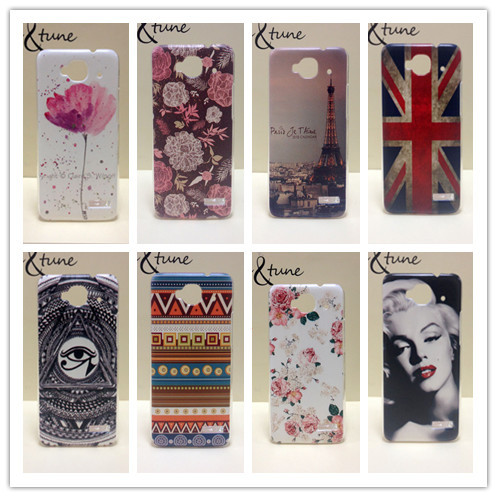 Wholesale 100pcs/lot  Painted Hard PC Plastic Phone Case For Alcatel One Touch Idol mini 6012X 6012A 6012W 6012D TCL S530T