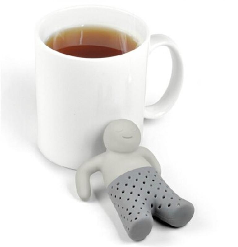 2014 2pcs/lot Teapot Cute Mr Tea Infuser/Tea Strainer/Coffee & Tea Sets/silicone Fred Mr tea Filter Free shipping(China (Mainland))