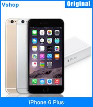 Original iPhone 6 Plus Mobile Phone 128GB / 64GB / 16GB ROM 1GBRAM 5.5 inch 4G LTE iOS 8 A8 Dual Core 1.4GHz Unlocked Used (China (Mainland))