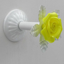 Creative Fashion colorful Wall Decorative Hardware Hooks white yellow green blue pink clothes curtain cap home clothes shop hook(China (Mainland))