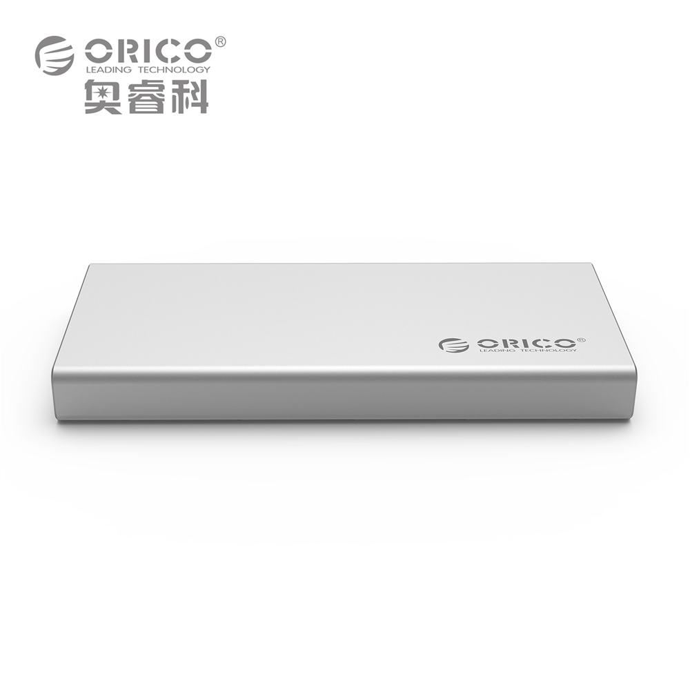 ORICO MSA-U3 Aluminum Micro B mSATA 3.0/2.0 Portable Mobile HDD Enclosure Box for 1.8 inch SSD - Silver(China (Mainland))