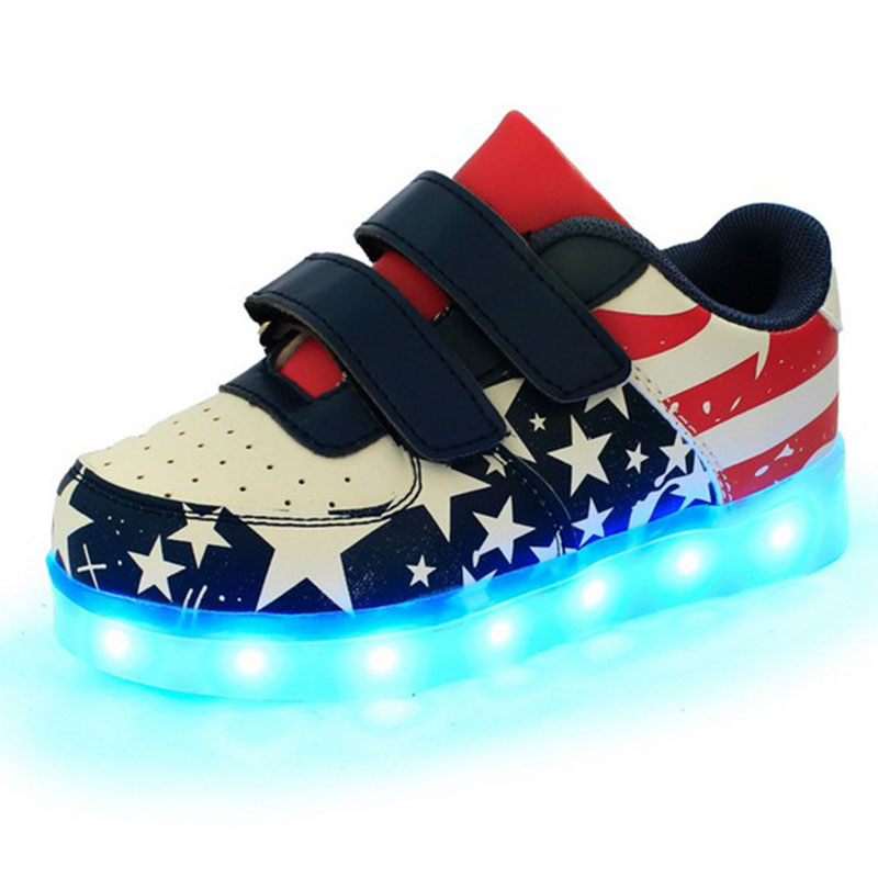 New 2016 Led Schoenen Kids Lighted Chaussure Lumineuse Enfant Casual Boys Lighting Girls Fille Children Shoes With Light Up(China (Mainland))