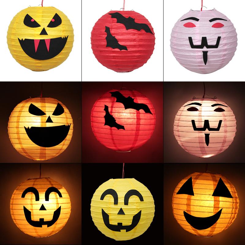 Diy child halloween pumpkin lantern self-restraint lantern kit material 8 paper portable lantern(China (Mainland))