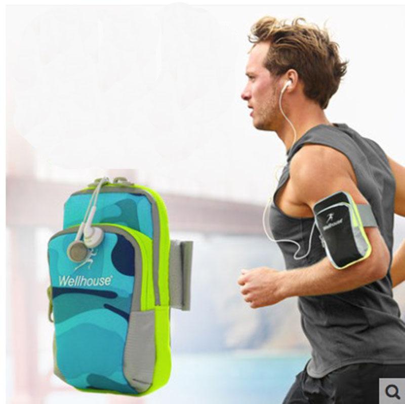 free shipping sac woman sports gym running accessories reflective tape arm pocket black roshe run phone bag(China (Mainland))