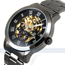 luxury top quality men s skeleton wristwatch military watches Free shipping