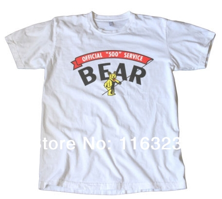 Bear indy 500 service printed t shirt or print your own Printing your own t shirts