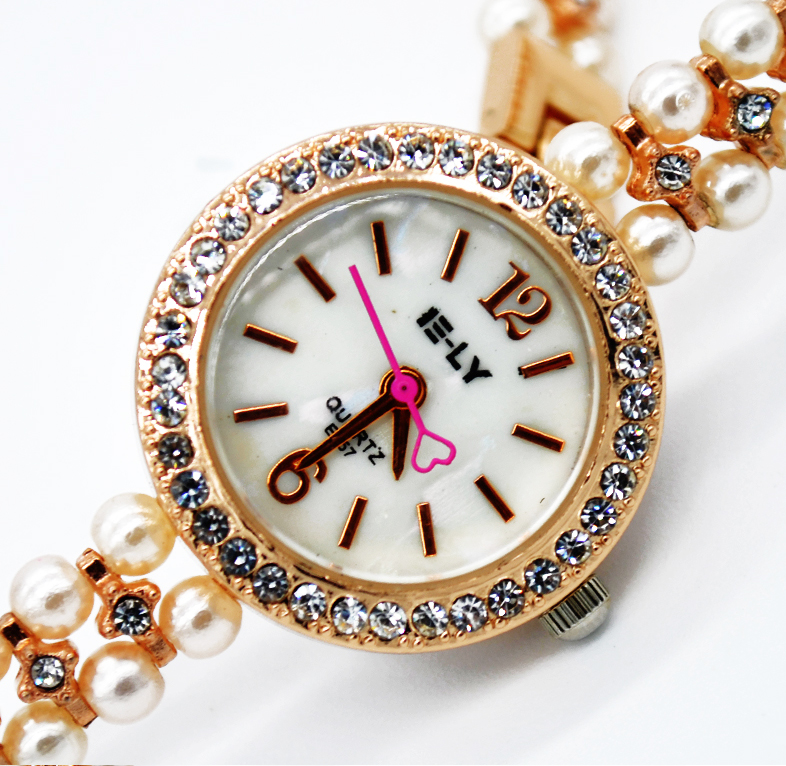 Watch With Pearl Bracelet Band Bracelet Watches Pearl