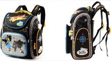 2016 Boys school bags dark blue cars aircraft children's orthopedic backpack high quality mochila infantil bolsas primary 1-5(China (Mainland))
