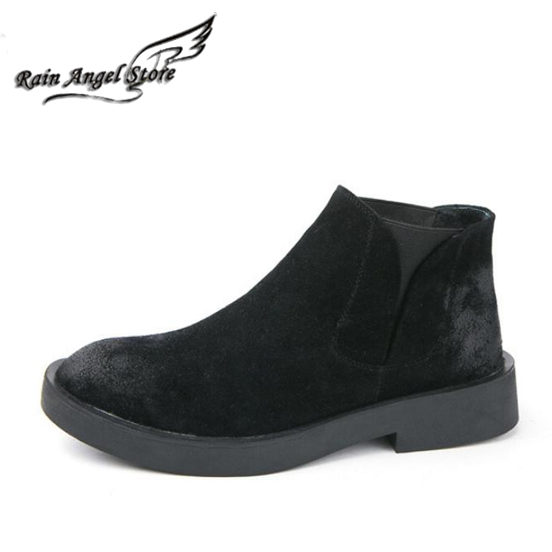 British Men Boots Black Suede Leather Ankle Boots Casual Winter Shoes Matte Lazy Shoes Bota Masculino<br><br>Aliexpress