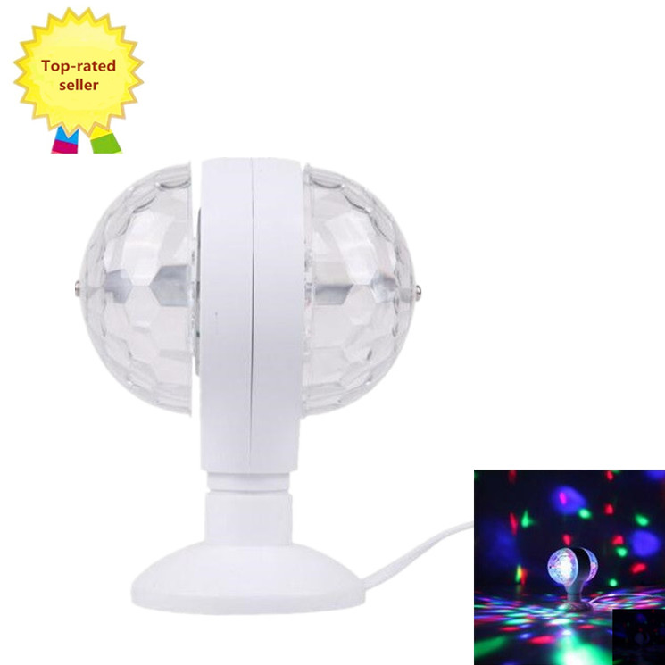 EU&AU Plug Professional Stage 6W Double-headed Rotating Led Lamp Wonderful Colorful Light party bar Nightclubs  -  Super Daily Deals store
