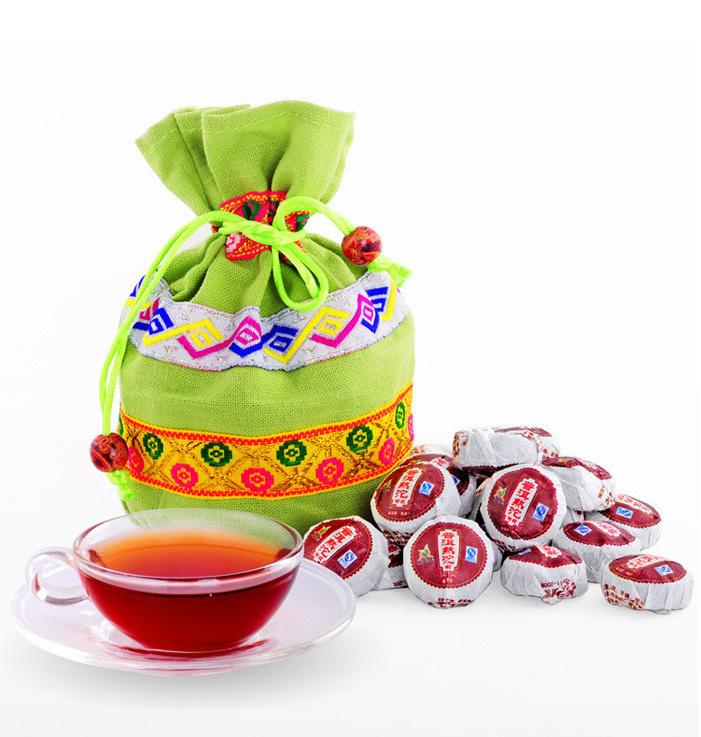 Promotion 50pcs Premium Black Soup Mini Ripe Pu Er Tea Menghai Green Slimming Swage Tea Products