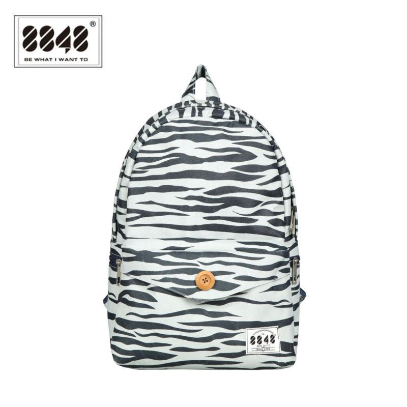 2016 Preppy Style Backpacks for Teenage Girls School Bags Zebra Rucksack Back Pack College Student Bagpack Backpack Male