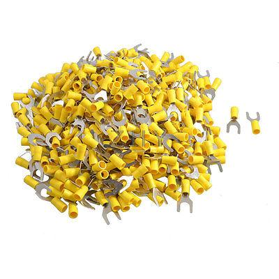 500 Pcs SV5.5-8 AWG 12-10 Yellow Pre Insulated Fork Terminals Connector<br><br>Aliexpress