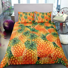 BOMCOM 3D Digital Printing a pile of tropical fruits great amount fresh mass full pineapple plant Bedding Set 100% Microfiber(China)