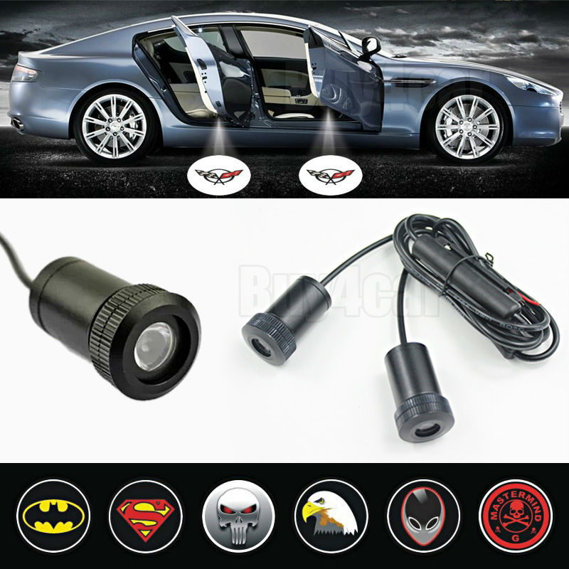 2pcs Car LED Laser Logo Light Door Welcome Ghost Shadow laser Projector Lights for CORVETTE #3228(China (Mainland))