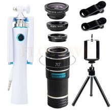 Buy HD 12X Telephoto Zoom Lens Telescope Universal Fisheye Wide Angle Macro Lenses Mini Selfie Stick Mobile Tripod iPhone Xiaomi for $19.70 in AliExpress store