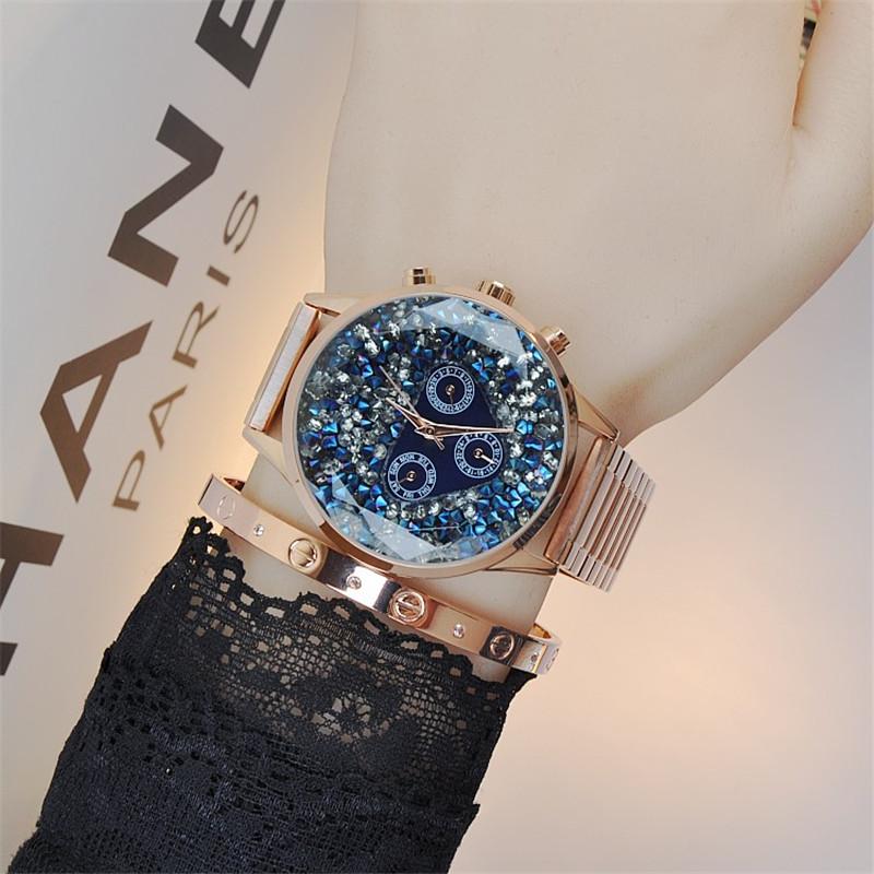 Women Fashion Watches Quartz-watch Stainless Steel Bright Crystal Watch Rhinestone Retro Clock Women Dress Watch Bracelet Gifts(China (Mainland))