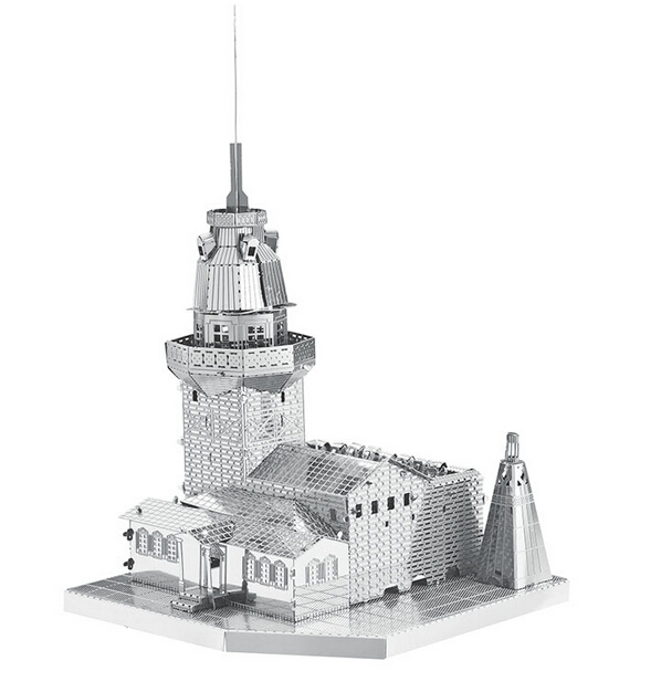 3d puzzle precision laser cutting metal Maiden Tower/ Maya Pyramid / Yueyang Tower/Big Wild Goose Pagoda model puzzle toys(China (Mainland))