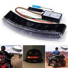 2016 Newest 8 LEDs Wireless Motorcycle Helmet Brake Turn Signal Light Motorbike 12V Multi-Color Warning Flasher Lamp(China (Mainland))