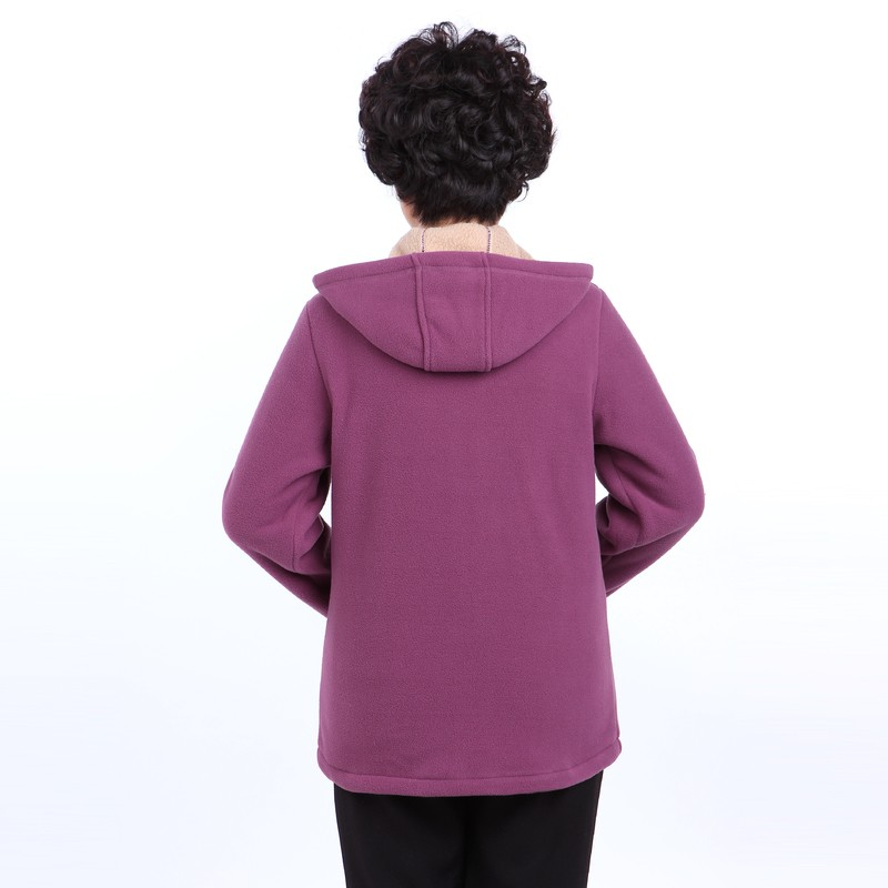 Winter Middle Aged Womens Hooded Imitation Lambs Fleece Jackets Ladies Warm Soft Velevt Coats Mother Overcoats Plus Size (31)