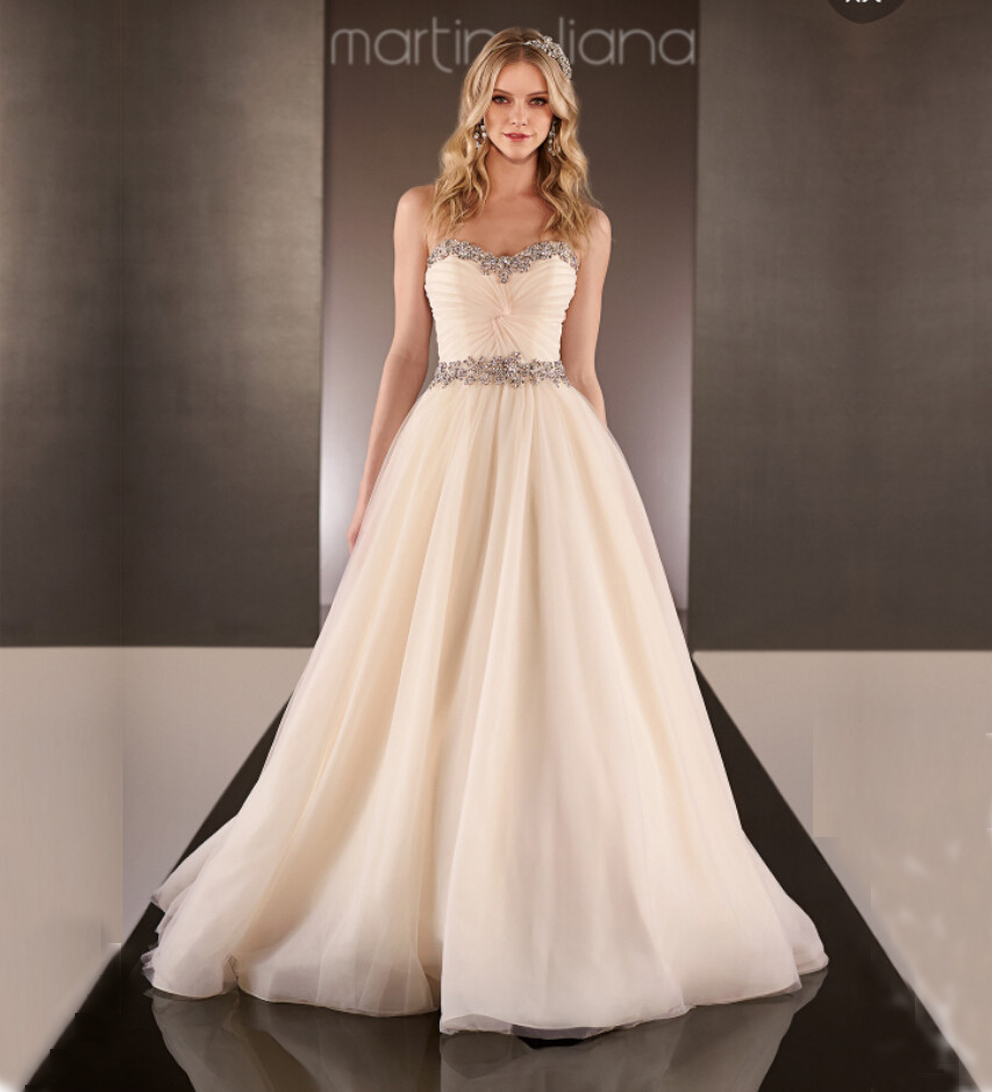 Stunning beaded crystal sweetheart neckline ball gown for Ball gown wedding dresses with sweetheart neckline and beading