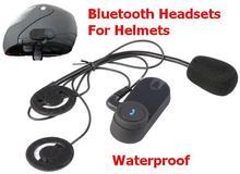 Waterproof Wireless Bluetooth Headsets Motorcycle Helmets Hand Free Headphone Control For mobile phone/ MP3/MP4 Radio iPod(China (Mainland))
