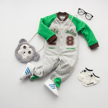 base ball green 100%Cotton long Sleeve Clothing Similar Jumpsuit Printed Baby Boy Girl Bodysuits 2016 baby boy clothes