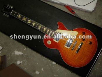 top quality China factory LP standard custom slash flame maple body OEM electric guitar musical instrument shop wholesale&retail