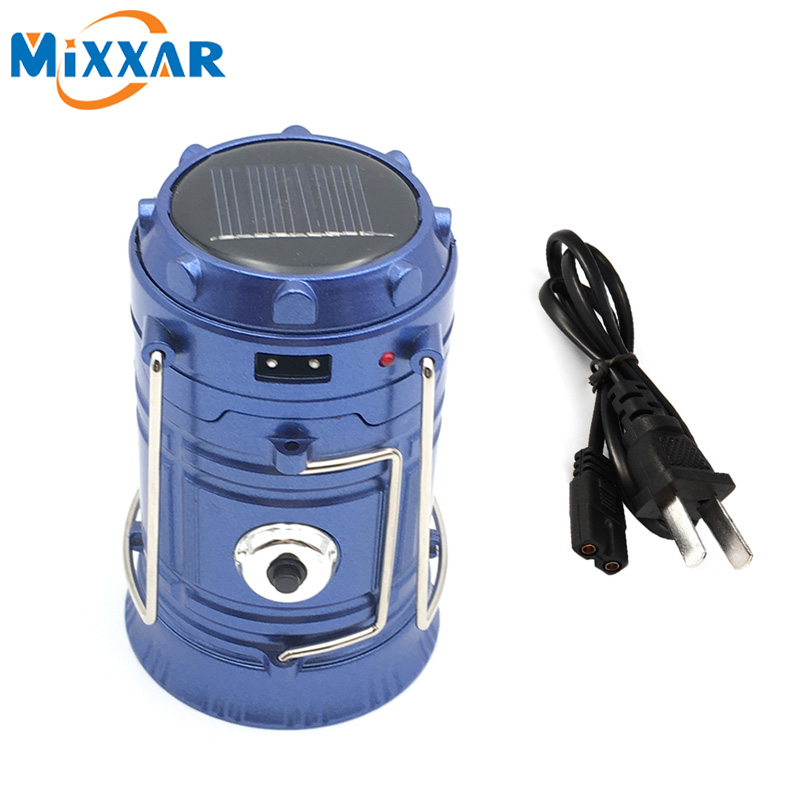 RUZK50 Mixxar 6 LEDs Portable Solar Charger Lantern Emergency Camping Lanterns Waterproof Rechargeable Hand Crank Light Lamp(China (Mainland))