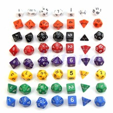 Buy Set of 7 Sided Die D4 D6 D8 D10 D12 D20 DUNGEONS&DRAGONS D&D RPG Poly Dice Game for $2.05 in AliExpress store