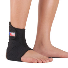 Adjustable Sports Elastic Ankle Support Brace Wrap Pad Foot Protection Football/Basketball 1PCS(China (Mainland))