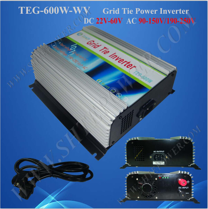 Over Current Protection 600w pure sine wave 220v ac power inverter grid tie(China (Mainland))