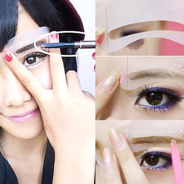 Grooming Makeup Kit Woman Maquiagem Beauty Eyebrow Shaping Kit Card Template DIY 3pcs/bag maquillaje