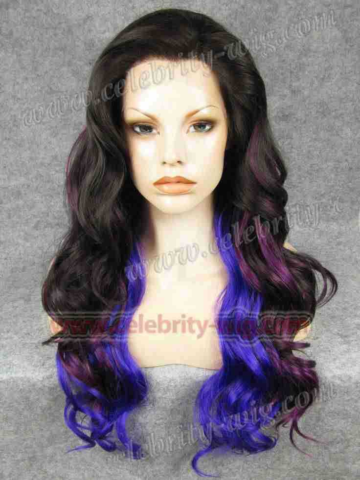 New arrival and best sale long style body wave synthetic lace fornt ombre lace wig<br><br>Aliexpress