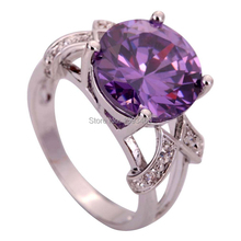 Free Shipping Fashion  Amethyst 925 Silver Ring Size 6 7 8 9 Dazzling Jewelry For Women Wholesale