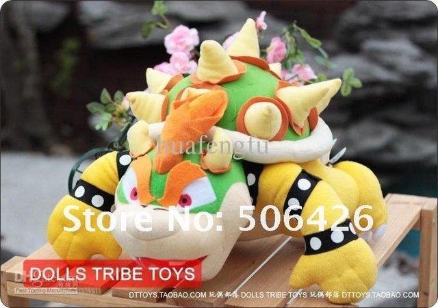 Free shipping 1pcs 10'' Super Mario Bros Koopa Bowser Dolls Collection Games Plush Toys
