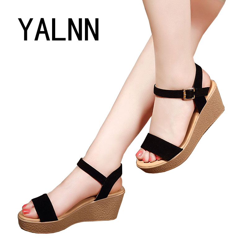 Woman Sandals Platform Thick Heel New Summer Pep-toe Women Shoes All Match Shoes For Ladies wild simple shoes(China (Mainland))