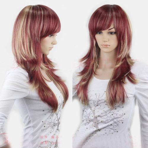Hot heat resistant Kanekalon Party hair FREE SHIPPING&gt;&gt;Charm Womens Long Cosplay Costume Party Wear Ombre Wig<br><br>Aliexpress