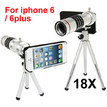 Buy Newest mobile phone 18x Camera Zoom optical Telescope telephoto Lens apple iphone 5 6s / 6 plus 7 7plus,10pcs/lot for $209.30 in AliExpress store